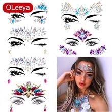 Body-Stickers Dress-Up Jewels Festival Glitter Rhinestones Crystal Gems Make-Up-Face