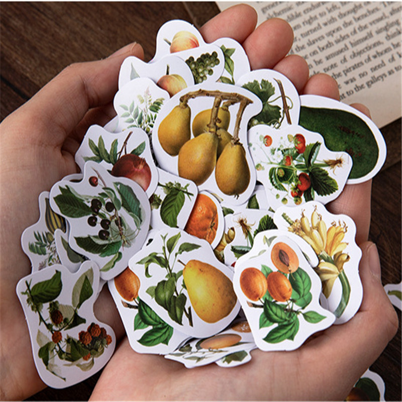 46Pcs/box Sweet Fruity Gift Stationery Decorative Sticker Children DIY Diary Scrapbooking Stickers Sticky Labe Gifts