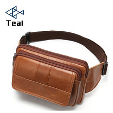 Waist Packs male Genuine Leather Pack Belt Bag Phone Pouch Bags Travel Mens Male Small