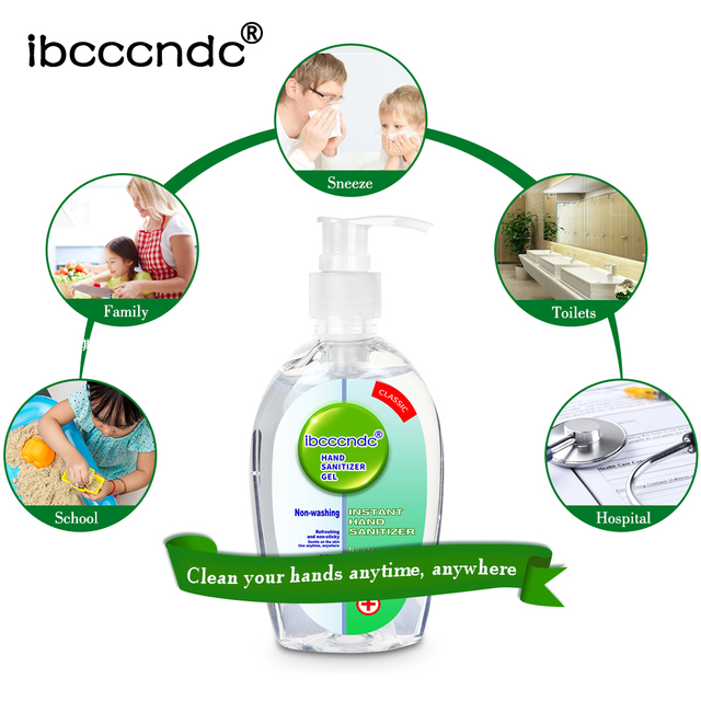 200ml Anti Bacterial Disposable Hand Sanitizer Hand Disinfection Gel Quick-Dry Handgel 75% Ethanol for Kids Adults Home Bathroom 4
