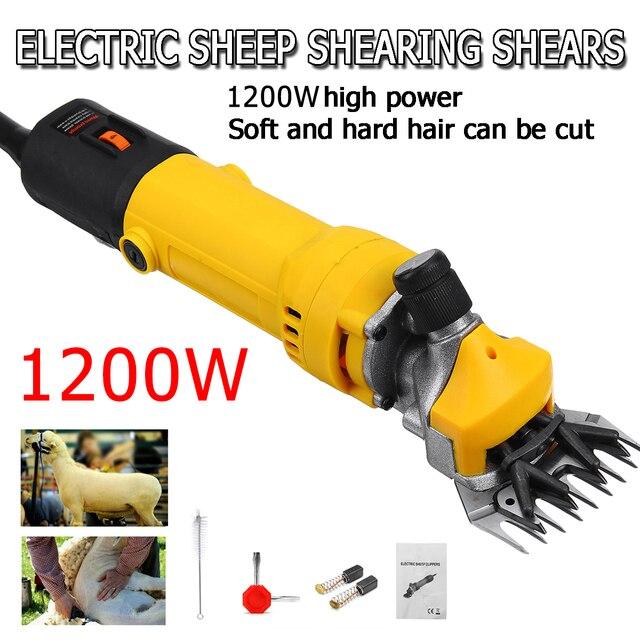 1200W 110V/220V 6 Gears Speed Electric Sheep Goat Shearing Machine Clipper Farm Shears Cutter Wool scissor Cut Machine