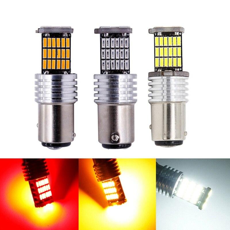 2 шт. 1156 BA15S P21W S25 7506 светодиодный лампы высокой Мощность 45 шт 4014SMD супер яркий 1200LM заменить заднего вида для автомобилей светильник белого и к...