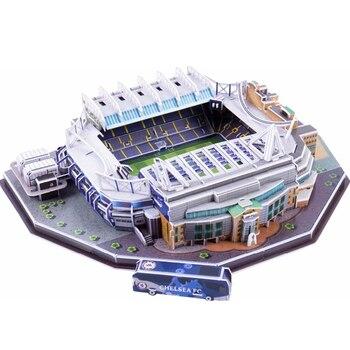 [Divertente] Regno Unito Stamford Bridge UK RU Concorrenza Partita di Calcio Stadiumsbuilding modello giocattolo per bambini regalo del bambino scatola originale