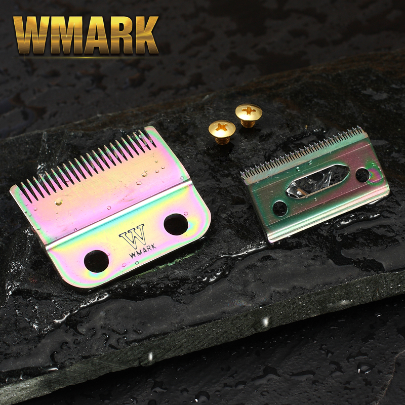 Professional WMARK 2-Hole Hair Clipper Blade Rainbow Color Silver Color Golden Color Replace Blade W-2 For Professional Clipper