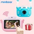 4000416663514 - Minibear cámara para niños 3 pulgadas pantalla táctil niños cámara Digital regalo para Niños Niñas 4K HD cámara/videocámara juguete para regalo