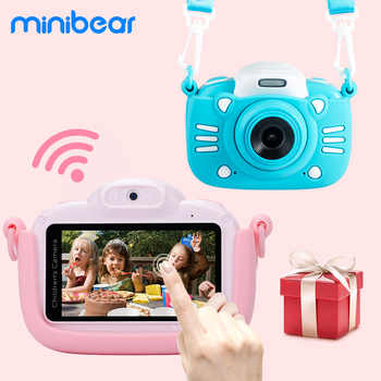 Minibear cámara para niños 3 pulgadas pantalla táctil niños cámara Digital regalo para Niños Niñas 4K HD cámara/videocámara juguete para regalo