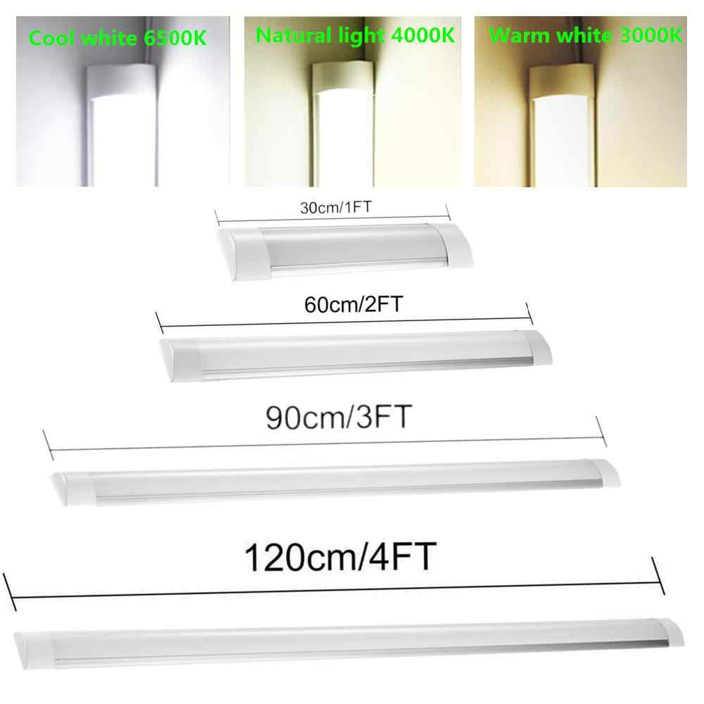 1FT/2FT/3FT/4FT LED Tube de latte lumière linéaire Tri-preuve Surface panneau plafonniers 85-265V IP65 étanche Tube ampoule