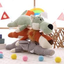 35CM popular forest animal plush doll lion elephant wolf toy pillow children birthday gift home decoration