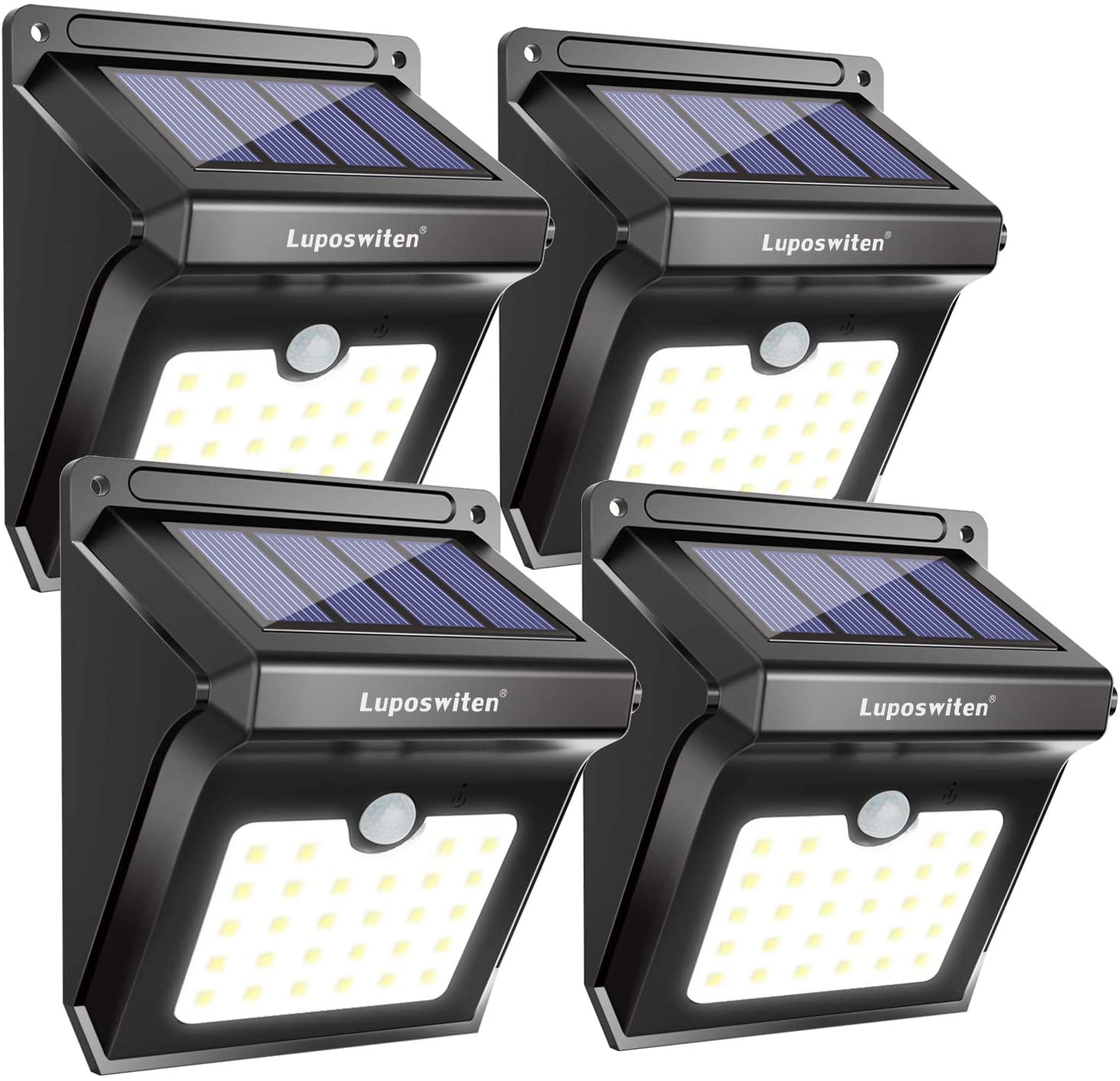 28 LEDs Solar Lights Outdoor, Luposwiten Solar Motion Sensor Lights Wireless Security Lights, 400 Lumen Waterproof Solar Powered