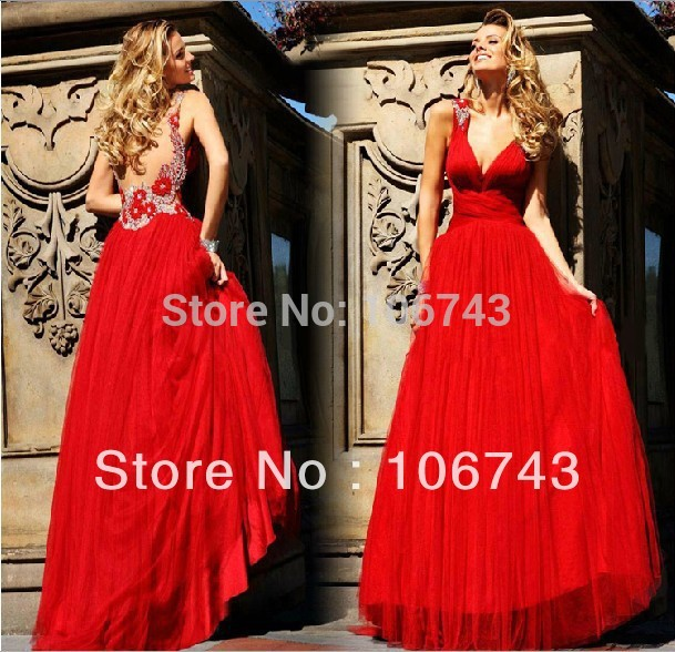 Vestido De Festa 2018 New Evening Backless Flowers Red Long Handmade Beaded Party Prom Gown Chiffon Mother Of The Bride Dresses