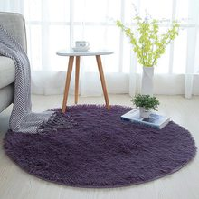 Round Rug Fluffy Carpets for Living Room Decor Faux Fur Carpet Kids Room Long Plush Rugs for Bedroom Shaggy Area Rug Modern Mat(China)