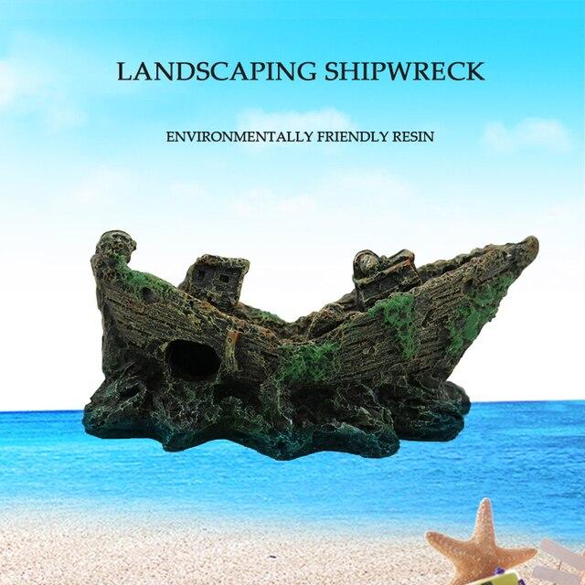 Sunken Pirate Shipwreck Aquarium Landscaping  2