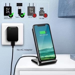 Image 5 - FDGAO Veloce Caricatore Senza Fili di Ricarica Pieghevole Del Basamento Pad USB Tipo C Cavo 15W Per il iPhone 11 Pro XS XR X 8 Samsung S10 S9 Airpods