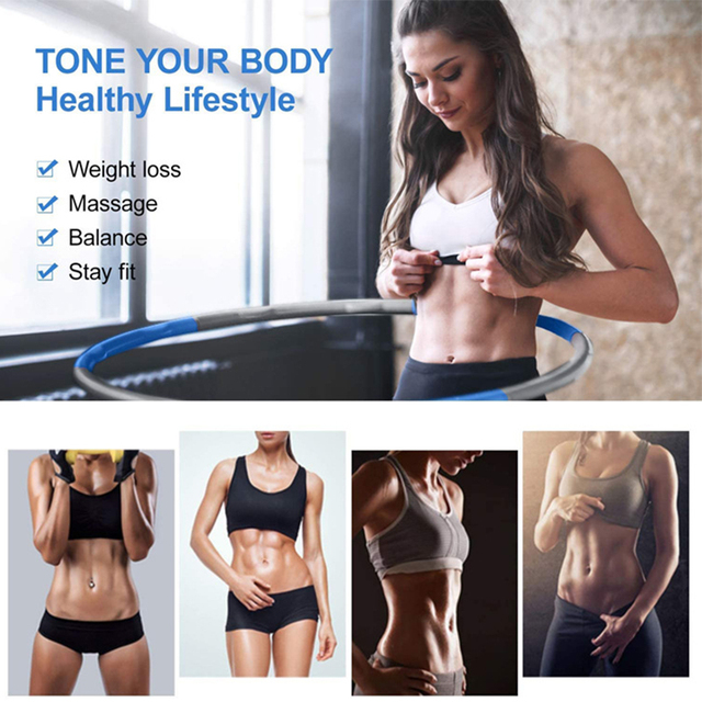 8 Sections Detachable Hola Hoop Fitness Circle Weight Exercise Hoop Adjustable Thin Waist Trainer Massage Hoop Sport Eqiutpment 5