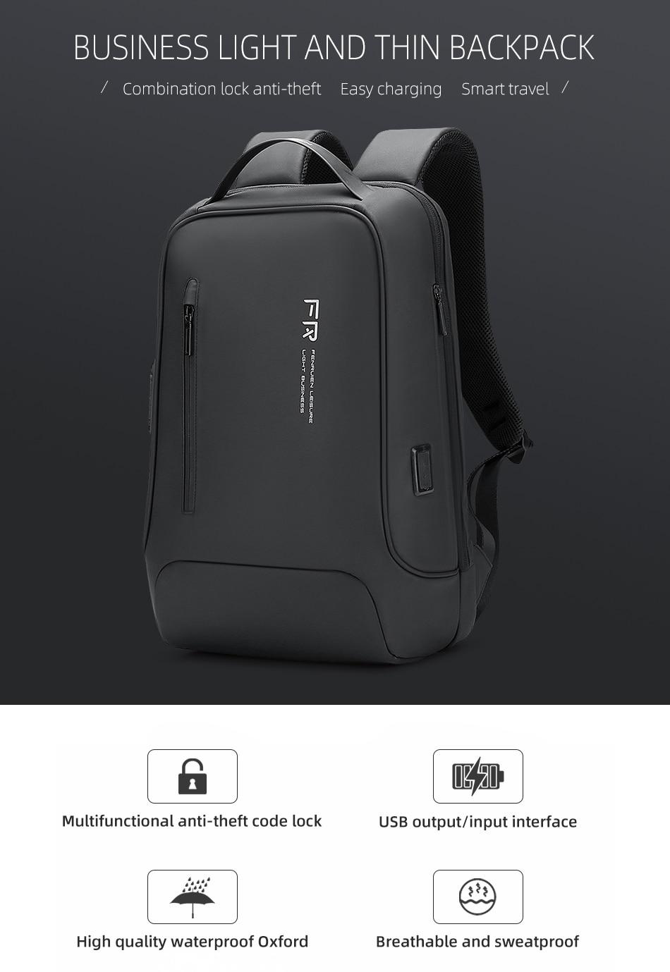 zíper 15.6 Polegada portátil mochila de carregamento