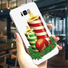 Christmas Deer New Year Gift Hard Cover for Samsung Galaxy S8 Phone Case for S9 S10 S10e Note 8 9 M10 M20 M30 S6 Edge S7 Plus(China)