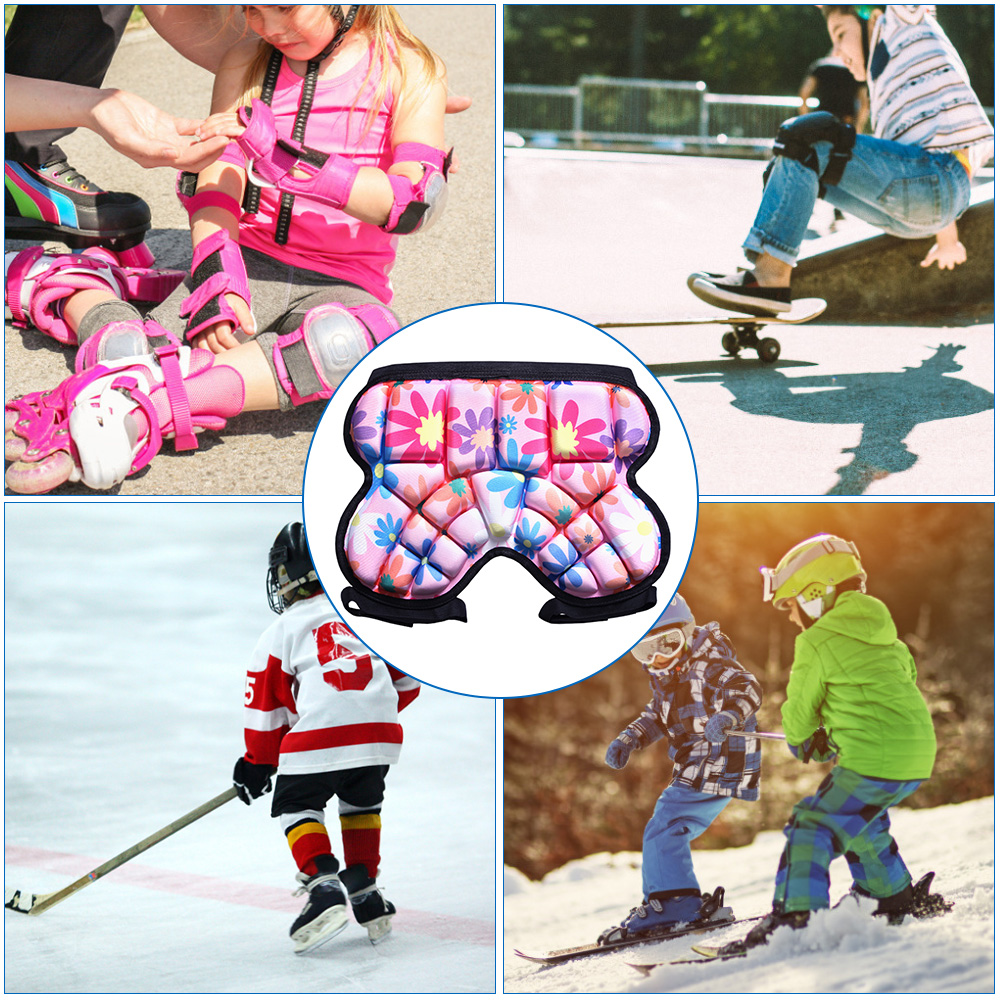 Children Hip Pad 3D Hip Padded Protection for Skiing Skating Snowboard Cycling Roller Hockey Soccer Protective Hip Butt Pad|Elbow & Knee Pads| |  - title=