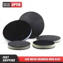 "SPTA 6"" 150mm Polisher Clay Disc Clay Bar Wipe Foam Pad DA Polisher Pad For Car Polishing Detailing Novel Tool Detailing Kit 1Pc"