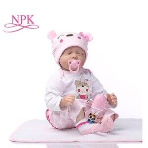 Image 1 - NPK 40/55cm Reborn Schlaf Baby Puppe Kinder Playmate Geschenk für Mädchen Babe Puppe Weiche Spielzeug für Bouquets puppe Babe Reborn Spielzeug