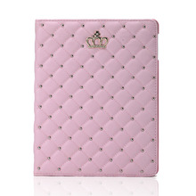 Case For Ipad 2 3 4 Luxury Rhinestone Flip Breathable Cover Full Protect Stand PU Leather Case For Apple Ipad 10.1 Inch 4 3 2 все цены