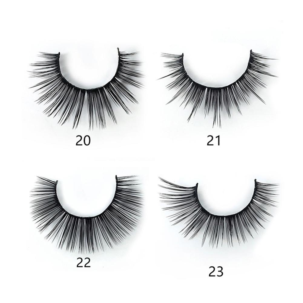 3 Pairs Fake Eyelashes Soft Handmade Eyelashes For Parties Weddings Photographs Reusable And Comfortable Wide Applicability in Toiletry Kits from Beauty Health