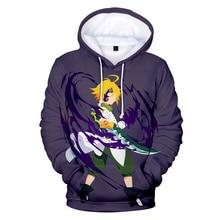 Fashion 3D Meliodas Men Hoodies Women pullovers Hooded casual spring autumn 3D Print Meliodas Hoodie boys girls tops Sweatshirts