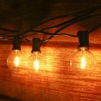 Guirlande lumineuse féerique E12 de 21.33 pieds, G40 LED, lumière blanche chaude, sans intensité réglable, 12 + 1 Globe, pour Patio, jardin, cour