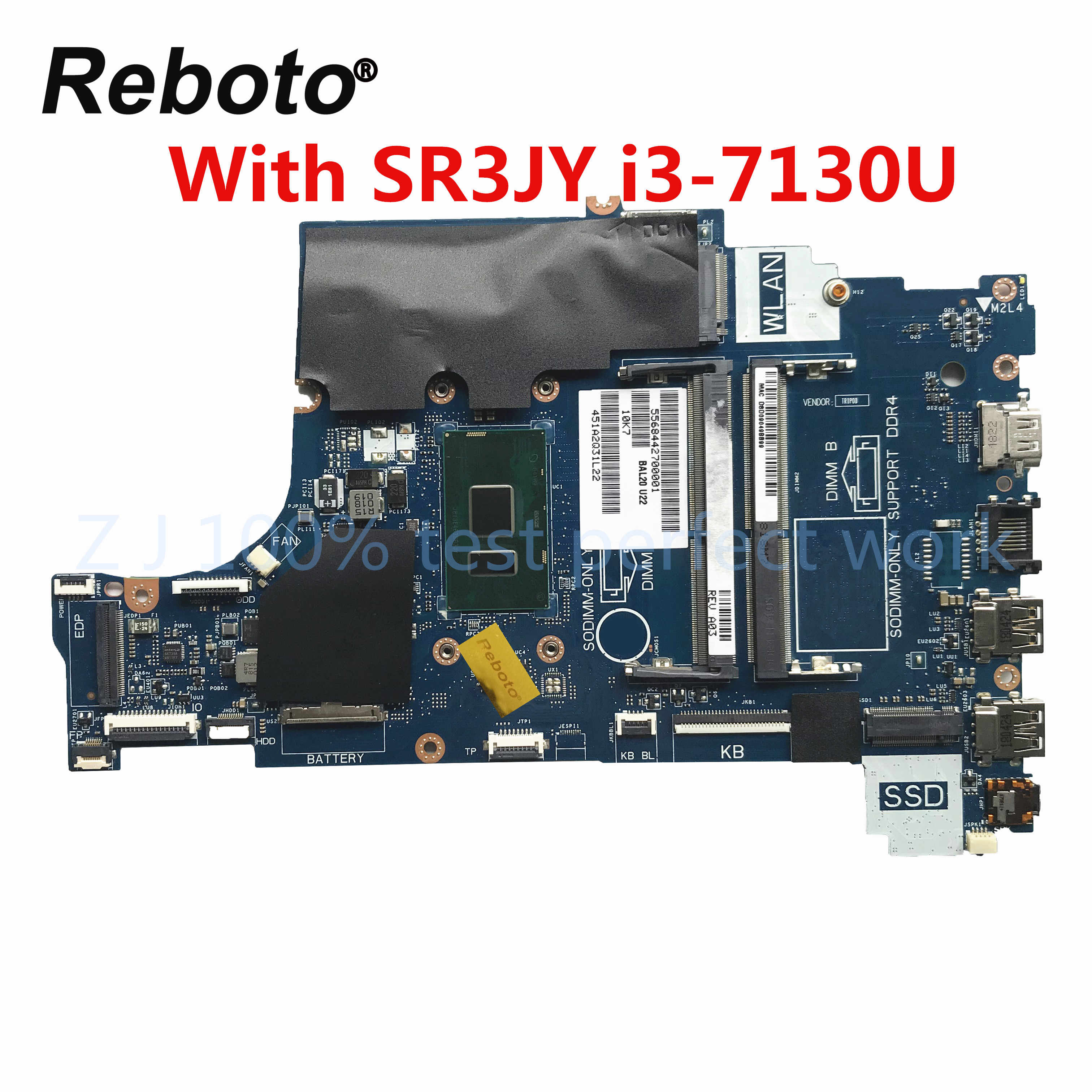 For Dell Inspiron 15 5570 Laptop Motherboard With Sr3jy I3 7130u Cal60 La F114p Ddr4 Mb 100 Tested Fast Ship Aliexpress