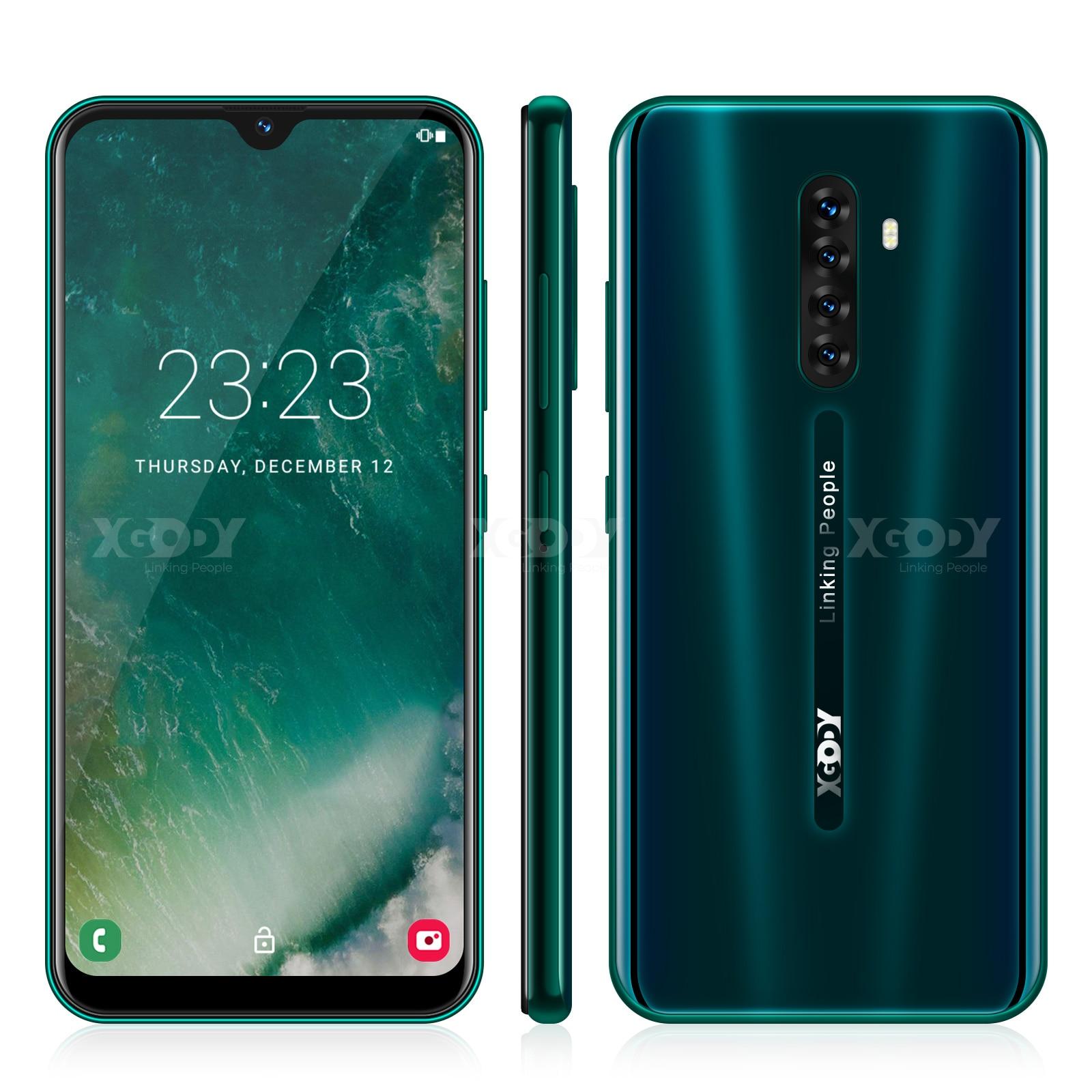 XGODY note 8 4G Smartphone 6.3 Android 9.0 19:9 Cellphone 2GB RAM 16GB ROM 2850mAh Quad Core Dual SIM GPS Wi-Fi Mobile Phone