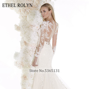 Image 5 - ETHEL ROLYN Romantic Mermaid Wedding Dresses 2020 Long Sleeve Sexy Sweetheart Shining Illusion Wedding Gowns Vestido De Noiva
