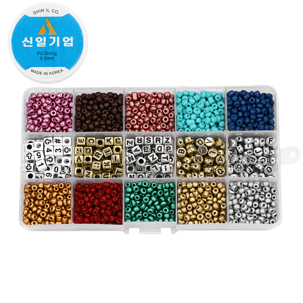 2020pcs Mix color Letter Beads Jewelry Making Supplies Kit Beads Wire for Bracelet DIY Earrings Making Kit Jewelry Finding 6