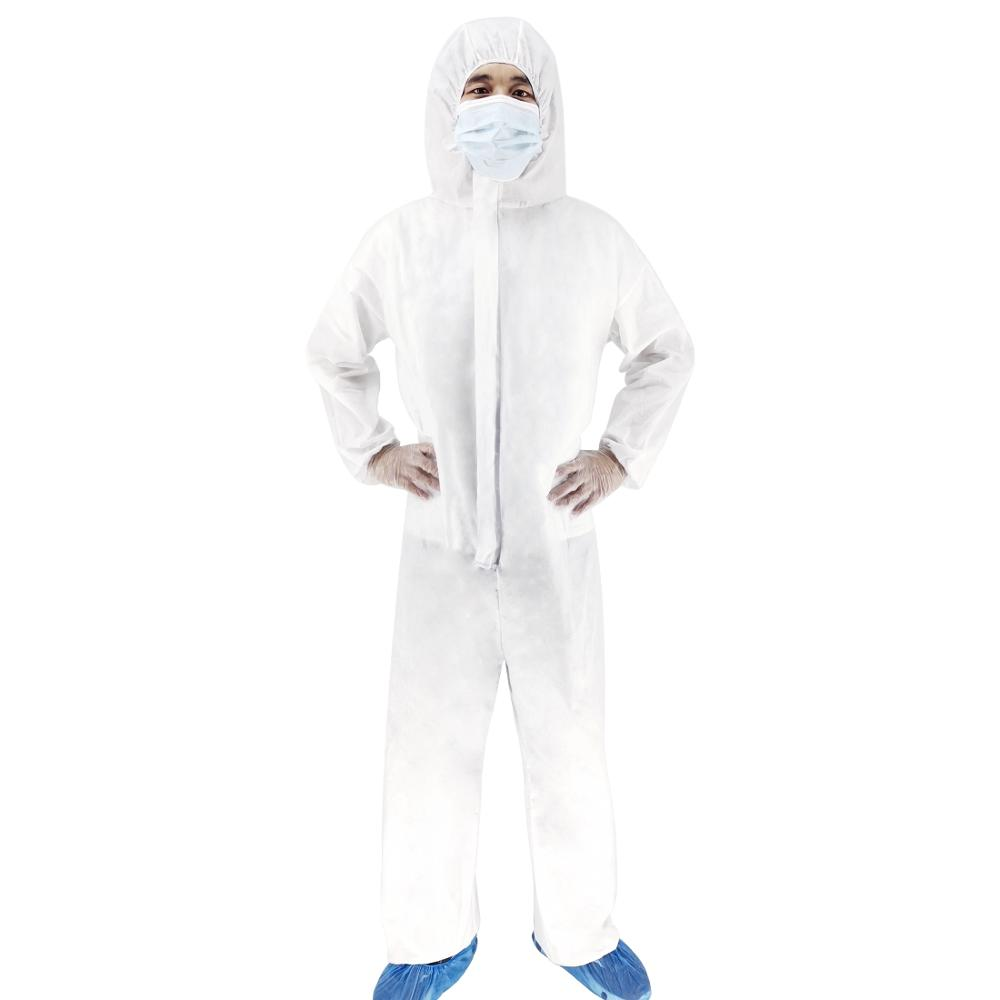 Non-woven Waterproof Disposable Thick Durable Isolation Medical Safely Clothes, Size: Free Size