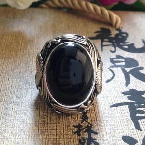 Image 5 - 最高の販売新メンズシルバーリング 925 で設定天然石シルバーリング男性のためのシルバーマンのリング
