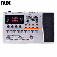 NUX MG 20 MG20 Guitar Multi effects AMP Pedal Black Digitech Multi Effects Modeling Processor Guitarra Loop/ Volume