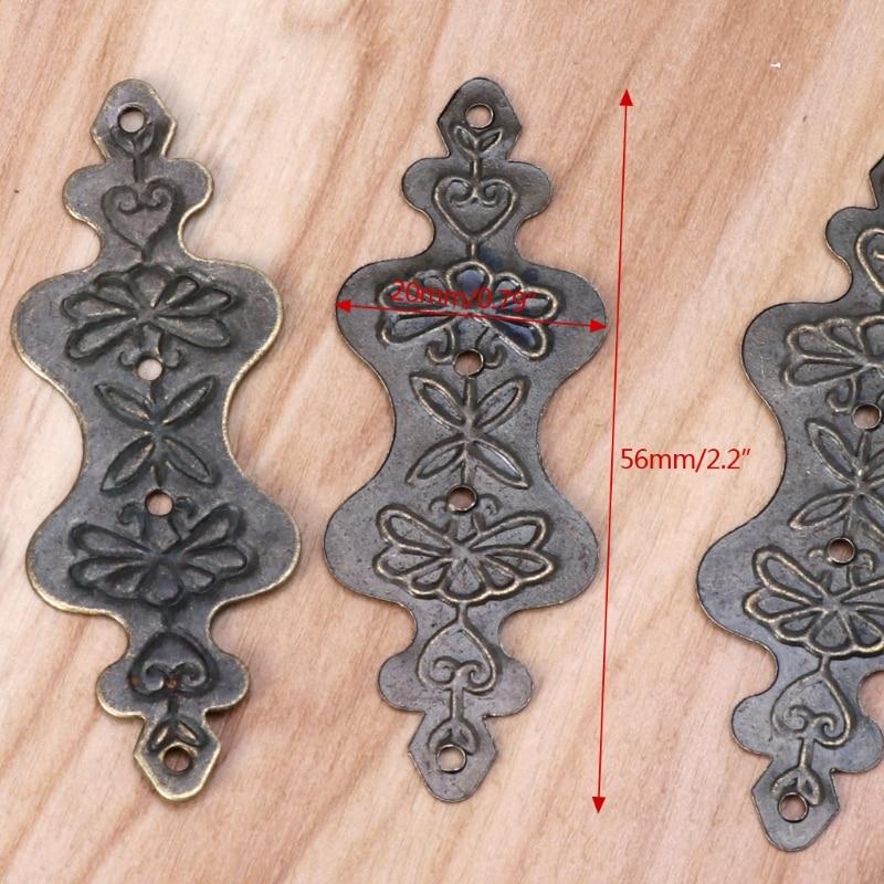 4 шт Античная латунная декоративная подарочная коробка для ювелирных