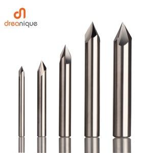 Image 1 - Cnc タングステン超硬面取りフライスカッターアルミ銅、 60 90 120 度バリ取りエンドミル 90 度の v 溝ルータービット