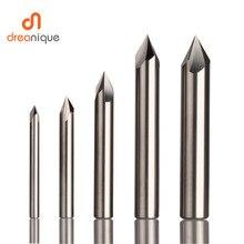 Fraise en carbure de tungstène CNC, aluminium cuivre, mèche débavurage, 60, 90, 120 degrés