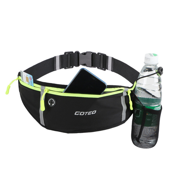 "7"" Running Marathon Waist Bag Sports Climbing Hiking Racing Gym Fitness Belt Water Bottle Hip Waist Pack for iphone 11 pro max"