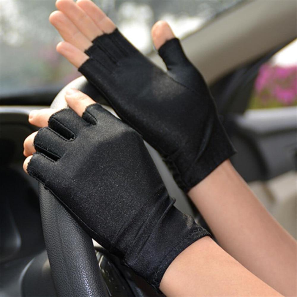 Эластичные плотные дышащие перчатки с полупальцами для мужчин и женщин, мужские тонкие перчатки для вождения, спортивные перчатки для езды ...