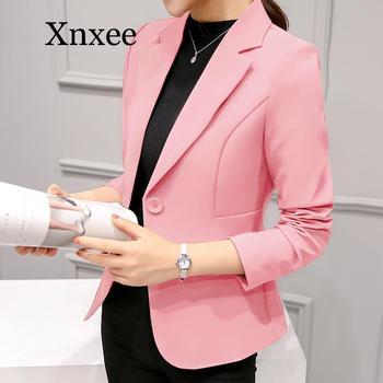 цена Elegant Business Lady Jacket office Women Full Sleeve Work Blazer Female Casual Coat elegant formal wear single button pink онлайн в 2017 году