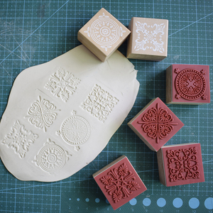 Image 5 - High Quality Square Emboss Stamp Baroque Mandala Lace Texture Sculpture model ceramic polimerica pottery Polymer Clay tools