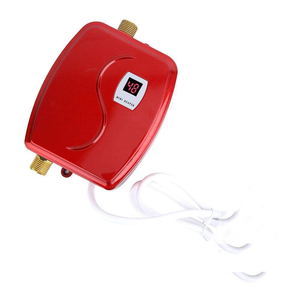 XY-FG,3800W Mini Electric Water Heater Instant Heating LED Display Electric Hot Water Heater Leakage Protection Kitchen EU Plug