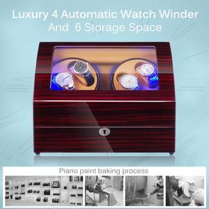 Image 3 - 자동 시계 시계 와인 더 새로운 버전 4 + 6 나무 시계 액세서리 상자 시계 스토리지 수집기