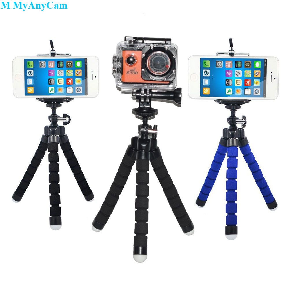 Sport Camera Phone Holder Flexible Octopus Tripod Bracket Stand Mount Monopod Styling Accessories For Mobile Phone Action Cam