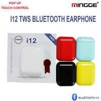 Bluetooth 5,0 Kopfhörer i12 TWS Wahre Wireless Mini Ohrhörer Smart Touch Kopfhörer Hohe Qualität Lautsprecher Mic Bluetooth Headset