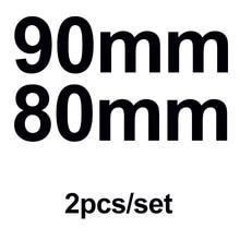 Couverture autocollante pour capot, accessoire de voiture, 90mm 80mm, 2 pièces, calandre avant, coffre, arrière, pour Octavida Bora Jetta Fabia