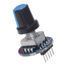 Rotary Encoder Module for Arduino Brick Sensor Development Round Audio Rotating Potentiometer Knob Cap EC11