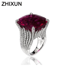 US $1.43 52% OFF|Luxury Red Stone Cocktail Rings For Women Gift Fashion Jewelry Bright Silver Cubic Zircon Wedding Band Statement Jewelry Z5C118-in Rings from Jewelry & Accessories on AliExpress
