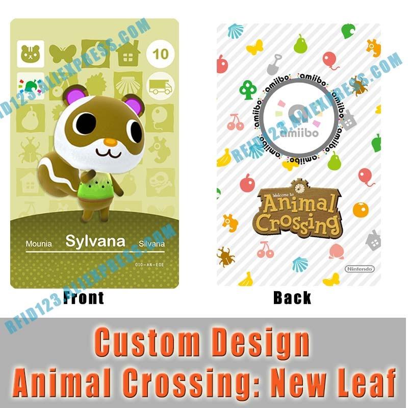 WA10 Sylvana Custom Design Animal Crossing Amiibo Card Welcome Amiibo New Leaf
