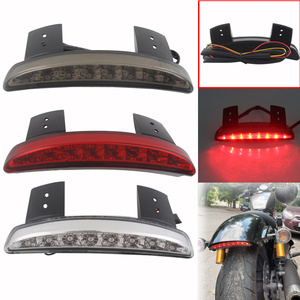 Motorcycle Rear Fender Tailing Edge Red LED Brake Tail light For Harley Sportster XL 883 1200 48 72 Cafe Racer Models